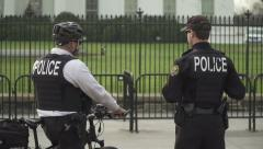 4K, Secret Service Agents at the White House Stock Footage