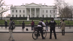 4K, Secret Service Agents in Front of the White House Stock Footage
