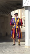 Rome Italy Vatican Swiss Guard on road vertical HD Stock Footage