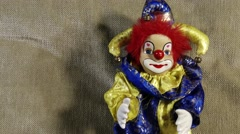 4K Scary Clown Doll 14 Stock Footage