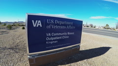 U.S. Department Of Veterans Affairs Sign- Kingman Office Stock Footage