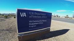 Stock Video Footage of U.S. Department Of Veterans Affairs Sign- Kingman Office