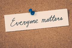 Everyone matters - stock photo