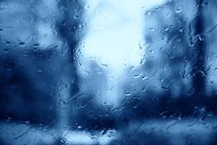 Raindrops over the window Stock Photos