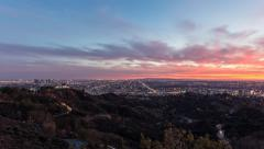 Los Angeles Griffith Park Dusk Time Lapse Stock Footage