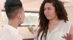 Lesbian couple arguing Stock Footage