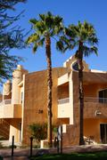 Southwestern style hotel buildings Stock Photos