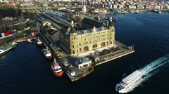 Istanbul, Haydarpasa Train Station Stock Footage