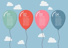 Colorful balloon infographic Piirros