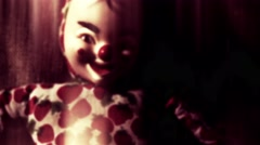 4K Scary Clown Doll 50 stylized Stock Footage