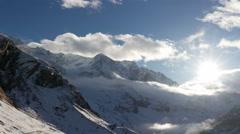 Snowy mountain timelapse Stock Footage