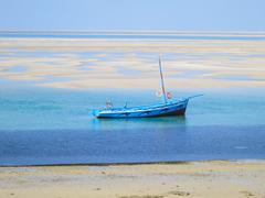 Dhow on the shores of Vilankulo Stock Photos