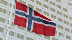 Waving Flag of Norway Stock Footage
