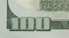 100 US Dollar Bill Stock Footage