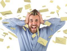 Concept of spam Stock Photos