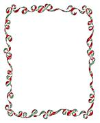 Stock Illustration of Frame of Christmas Ribbons and Bows