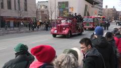 St patrick's day Irish parade in Toronto Canada Stock Footage