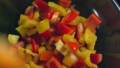 Bell Pepper Salad - stock footage