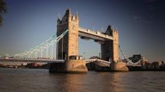 Tower Bridge Drawbridge Opening - stock footage