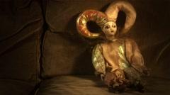 4K Scary Venetian Doll 17 stylized - stock footage