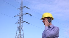 Electrical engineer arguing with his team due to improper maintenance work 4K Stock Footage