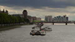 South View from Westminster Bridge London Stock Footage