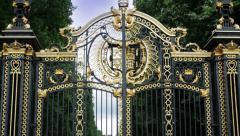 Royal Gates Pan Up - stock footage