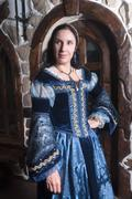 Stock Photo of Portrait of elegant woman in medieval era dress