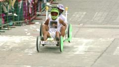 Annual Homemade Cart Competition Banos De Agua Santa Stock Footage