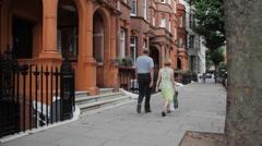London Neighborhood Sloane Gardens Westminster Stock Footage