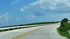 POV-Costera Sur 2-lane road passing stunted vegetation on south end of Cozumel Stock Footage