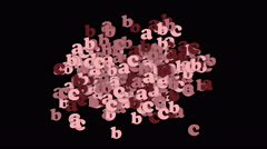 4k Alphabet abc cartoon letter character words,education learn data password. Stock Footage