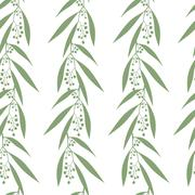 Seamless pattern branches of eucalyptus Stock Illustration