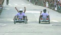 Annual Homemade Cart Competition Banos De Agua Santa - stock footage