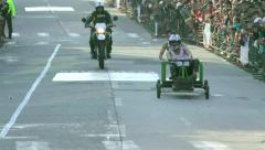 Stock Video Footage of Annual Homemade Cart Competition Banos De Agua Santa