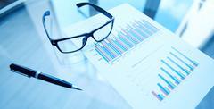 Financial statistics Stock Photos