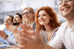 Business people clapping Stock Photos