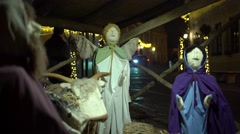 Nativity scene in the town 4K Stock Footage