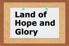 Land of Hope and Glory concept - stock illustration