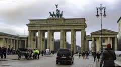 Timelapse view of the Brandenburg Gate in Berlin - stock footage
