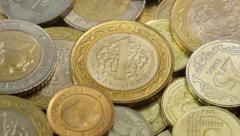 Turkish Lira macro coins Stock Footage