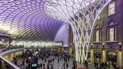 Timelapse view of King's Cross station in London Stock Footage