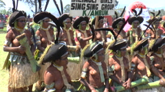 August 15 2015 Silimuli girls sing sing group in Papua New Guinea Stock Footage