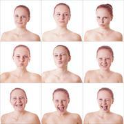 facial expressions - stock photo