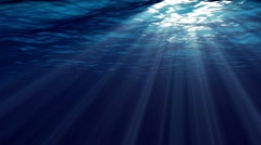 Animation of ocean waves from underwater.  Marine background. - stock footage