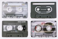 Various music cassettes Stock Photos