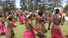 August 15 2015 aboriginal women in native costumes  dance in circle Stock Footage
