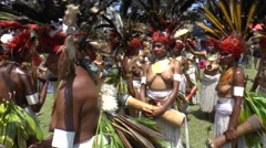 August 15 2015 Papuans women in native costume Stock Footage