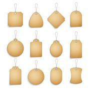 Cardboard Tags Set Stock Illustration
