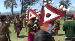 August 15 2015 Papuans festival with people in native costumes  Stock Footage